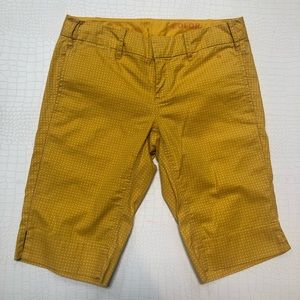Anthropologie G1 Paper Twill Yellow Bermuda Shorts
